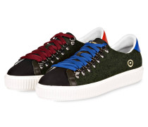 Sneaker - grün/braun
