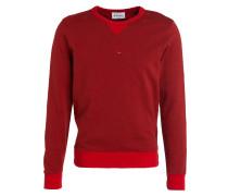 Sweatshirt - rot meliert