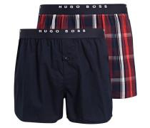 2er-Pack Web-Boxershorts - dunkelblau/ rot