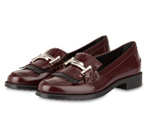 Lack-Loafer - bordeaux/ schwarz