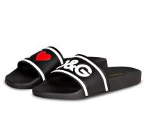Sandalen - schwarz/ weiss