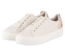 Plateau-Sneaker mit Paillettenbesatz