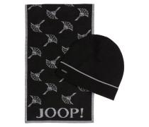 Set: Schal und Mütze SEAN - schwarz
