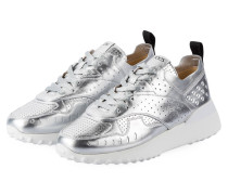 Plateau-Sneaker - silber metallic