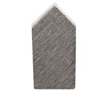 Einstecktuch - weiss/ grau meliert