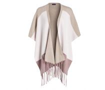 Poncho - rosa/ flieder/ beige