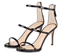 Lack-Sandaletten HARMONY 90 - schwarz