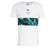 T-Shirt MUDED FERN - weiss/grün