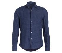 Hemd Slimline-Fit - blau/ hellblau