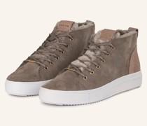 Sneaker mit Lammfell - TAUPE