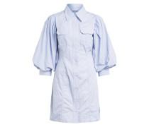 Hemdblusenkleid mit 3/4-Arm