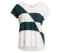 T-Shirt mit Leinenanteil - beige
