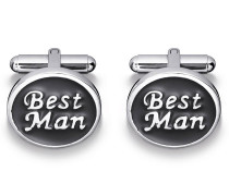Manschettenknöpfe BEST MAN - grau
