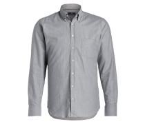 Flanellhemd Modern-Fit - grau