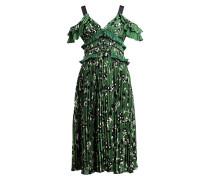Kleid - grün/ schwarz/ weiss