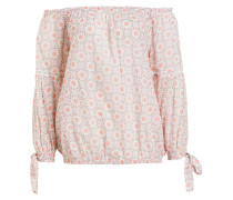Off-Shoulder-Bluse - lachs/ offwhite