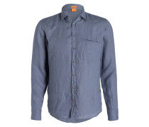 Leinenhemd ELVIDGE Regular-Fit - blau