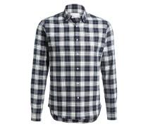 Flanellhemd Slim-Fit - schwarz/ ecru/ blau