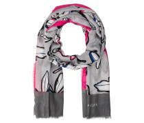 Schal - grau/ pink/ blau
