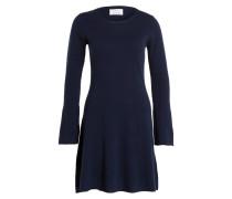 Kleid mit Cashmere-Anteil - marine
