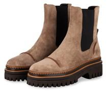 Chelsea-Boots - BEIGE/ SCHWARZ