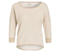 Pullover mit 3/4-Arm - beige/ gold