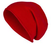 Cashmere-Mütze - rot