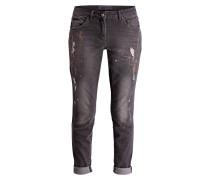 Destroyed-Jeans - grey denim