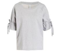 Sweatshirt mit 3/4-Arm - grau meliert