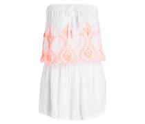 Bandeau-Kleid FRULEY - weiss/ orange