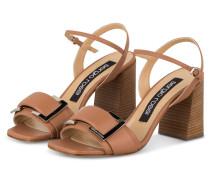 Sandaletten - HELLBRAUN
