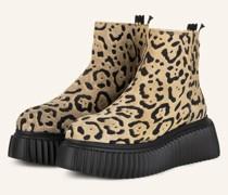 Plateau-Boots - CAMEL/ SCHWARZ