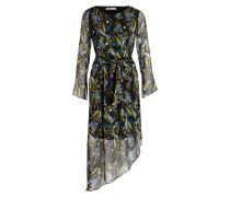Kleid EBONY - schwarz/ gelb/ blau