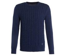 Pullover HOWARD mit Zopfmuster - blau