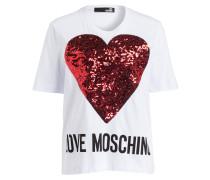 T-Shirt - weiss/ schwarz/ rot