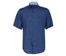 Kurzarm-Hemd Slim Fit aus Leinen