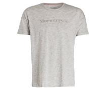 Lounge-Shirt - hellgrau meliert