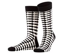 4er-Pack Socken - schwarz/ weiss