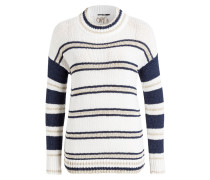 Pullover - navy/ creme