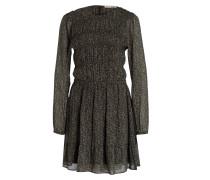 Kleid - schwarz/ oliv