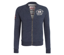 Sweatjacke APPLIQUE BOMBER - blau
