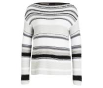 Pullover - schwarz/ weiss/ grau gestreift