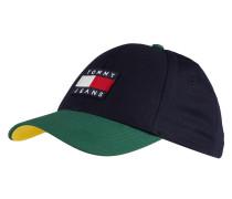 Cap - dunkelblau/ grün/ gelb