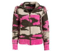 Strickjacke JIN - pink/ beige/ khaki