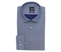 Hemd SANTOS Slim Fit - hellgrau/ blau