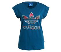 T-Shirt BOYFREIND ROLL-UP - blau