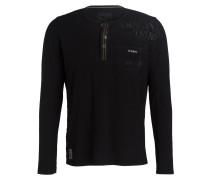 Henley-Shirt - schwarz