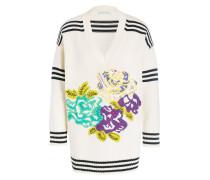 Pullover - offwhite/ schwarz/ violett
