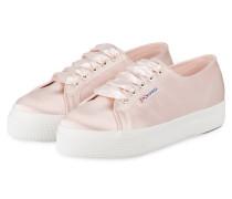Plateau-Sneaker 2730 aus Satin - rosa