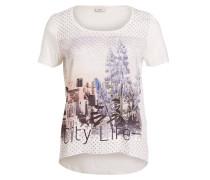T-Shirt RHINA - weiss/ lavendel
